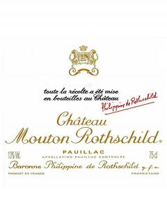 Château Mouton Rothschild 1999 Original wooden case of 12 bottles (12x75cl)