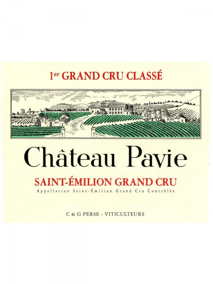 Château Pavie 1989 Original wooden case of 12 bottles (12x75cl)