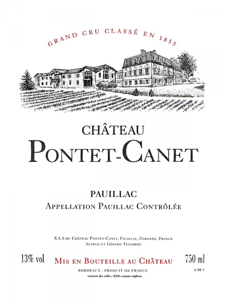 Château Pontet-Canet 2013 Original wooden case of 12 bottles (12x75cl)