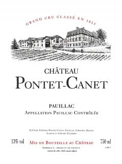 Château Pontet-Canet 2017 Original wooden case of 12 bottles (12x75cl)