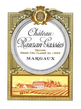 Château Rauzan-Gassies 2012 Original wooden case of 6 bottles (6x75cl)