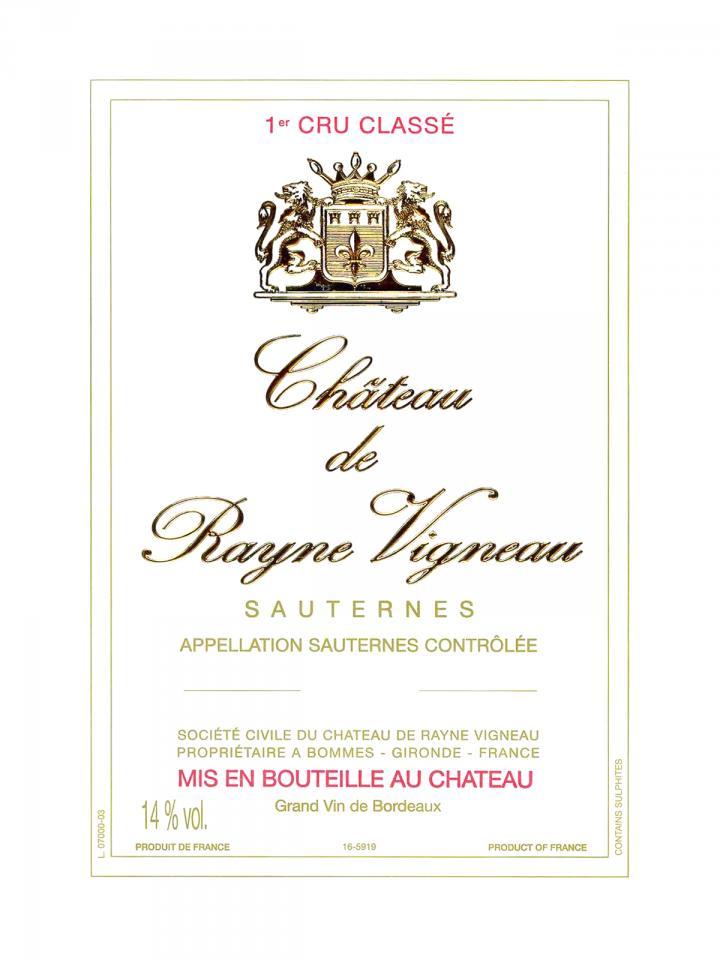 Château de Rayne Vigneau 1928 Bottle (75cl)