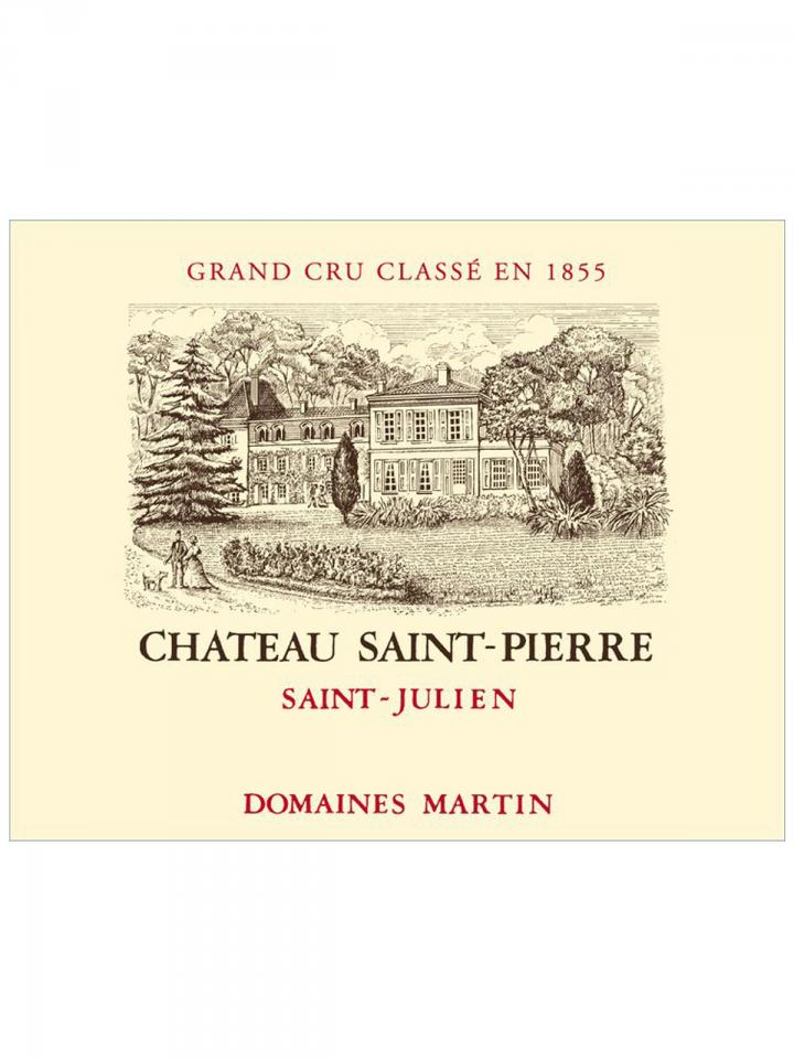 Château Saint-Pierre 1996 Original wooden case of 12 bottles (12x75cl)