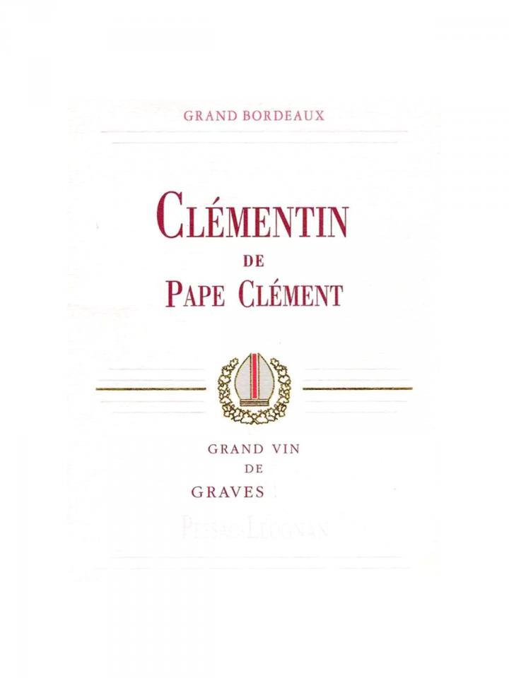 Clémentin de Pape Clément 2013 Original wooden case of 12 bottles (12x75cl)