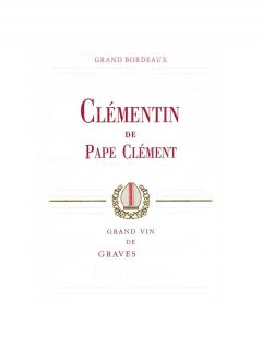 Clémentin de Pape Clément 2016 Original wooden case of 6 bottles (6x75cl)