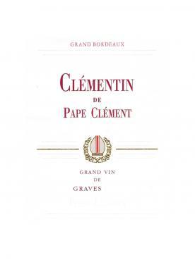 Clémentin de Pape Clément 2014 Original wooden case of 6 bottles (6x75cl)