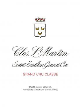 Clos Saint-Martin 1996 Original wooden case of 12 bottles (12x75cl)