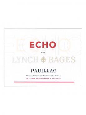 Echo de Lynch Bages 2018 Original wooden case of 12 bottles (12x75cl)
