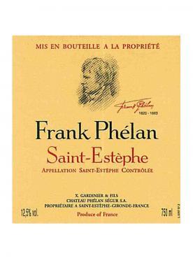Frank Phélan 2015 Original wooden case of 6 bottles (6x75cl)