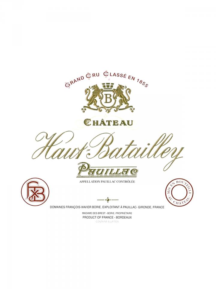 Château Haut-Batailley 2012 Original wooden case of 6 bottles (6x75cl)