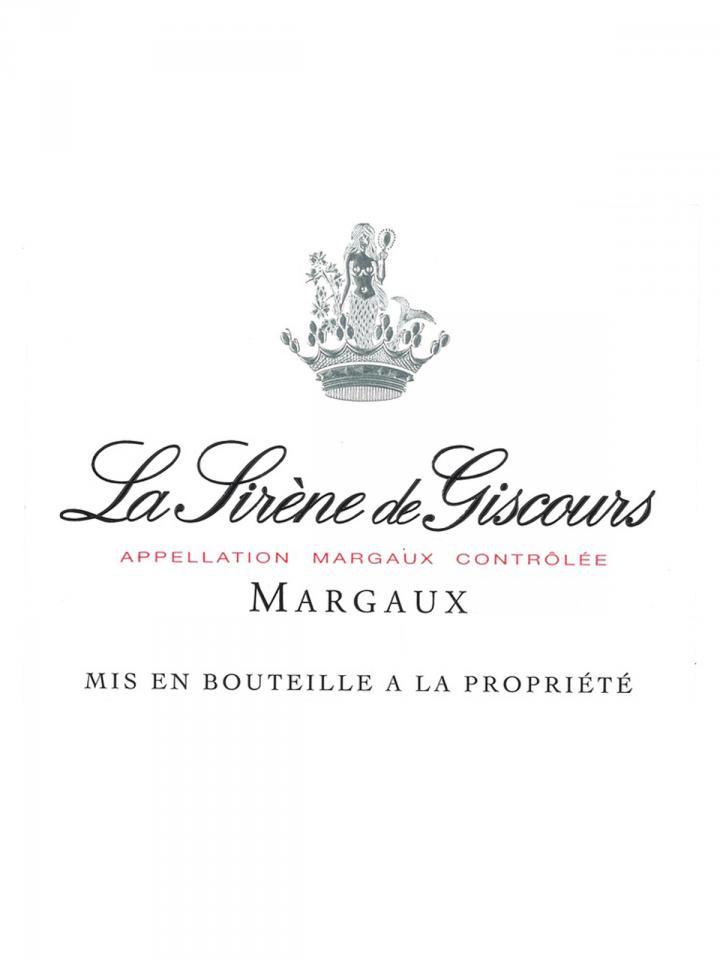 La Sirène de Giscours 2018 Original wooden case of 6 bottles (6x75cl)