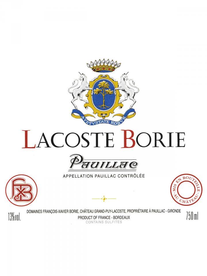 Lacoste Borie 2016 Original wooden case of 6 bottles (6x75cl)