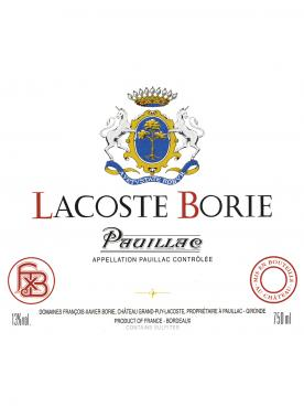 Lacoste Borie 2013 Original wooden case of 12 bottles (12x75cl)