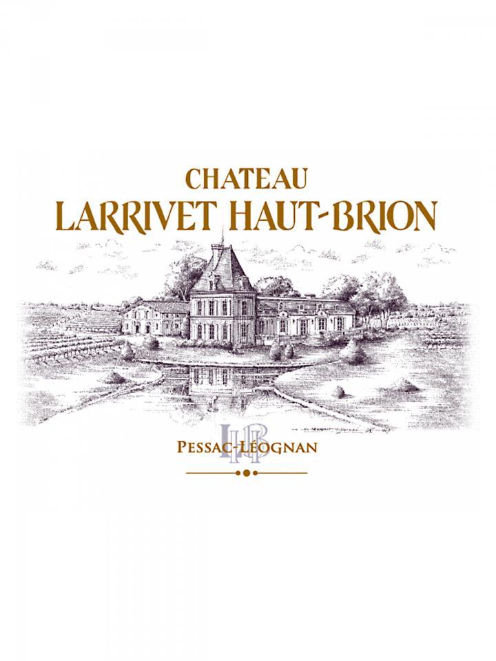 Château Larrivet Haut-brion 2018 Original wooden case of 12 bottles (12x75cl)