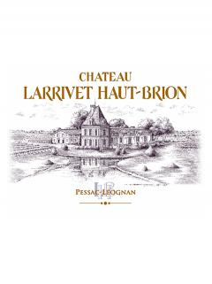 Château Larrivet Haut-brion 2015 Original wooden case of 6 bottles (6x75cl)