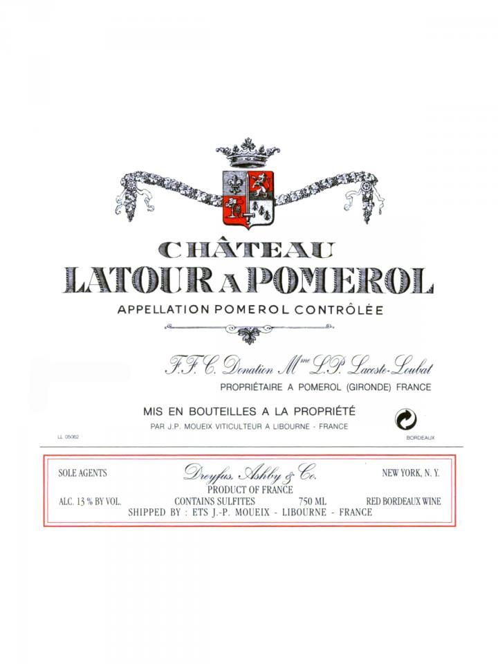 Château Latour à Pomerol 2013 Original wooden case of 6 bottles (6x75cl)