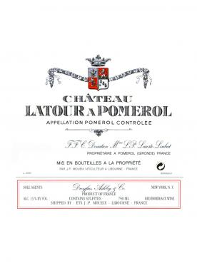 Château Latour à Pomerol 2012 Original wooden case of 6 bottles (6x75cl)