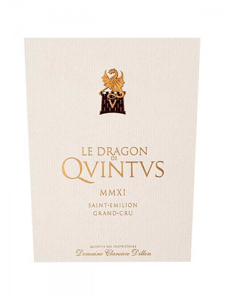 Le Dragon de Quintus 2015 Original wooden case of 6 bottles (6x75cl)
