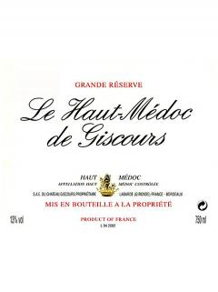 Le Haut Médoc de Giscours 2014 Original wooden case of 12 bottles (12x75cl)