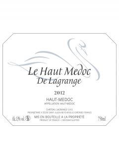 Le Haut Médoc de Lagrange 2012 6 bottles (6x75cl)