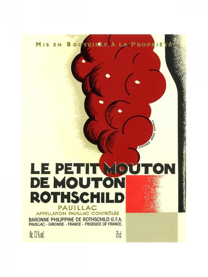 Le Petit Mouton de Mouton Rothschild 2014 Original wooden case of 6 bottles (6x75cl)