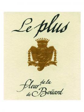 Le Plus de la Fleur de Boüard 2015 Original wooden case of 6 bottles (6x75cl)