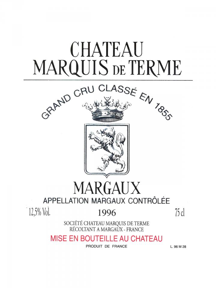 Château Marquis de Terme 2014 Original wooden case of 6 bottles (6x75cl)