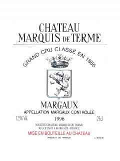 Château Marquis de Terme 2014 Original wooden case of 6 bottles (6x75cl)