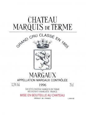 Château Marquis de Terme 2016 Original wooden case of one double magnum (1x300cl)