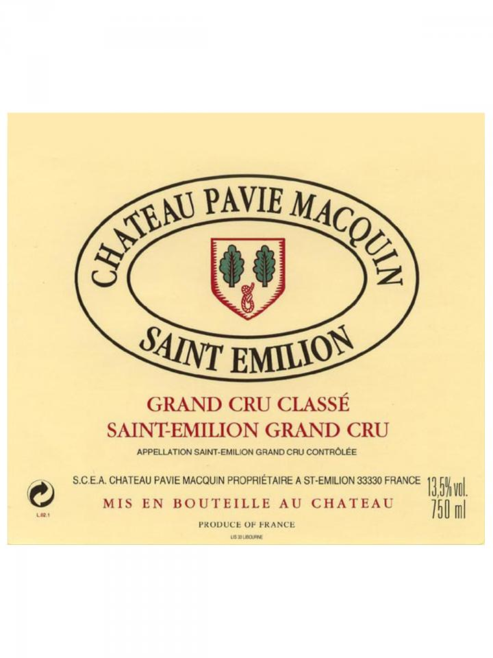 Château Pavie Macquin 2008 Original wooden case of 12 bottles (12x75cl)