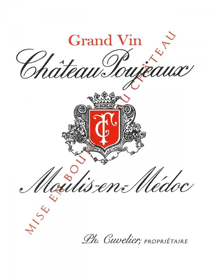 Château Poujeaux 2013 Original wooden case of 12 bottles (12x75cl)