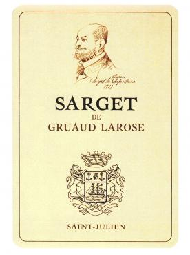 Sarget de Gruaud Larose 2015 Original wooden case of 12 bottles (12x75cl)