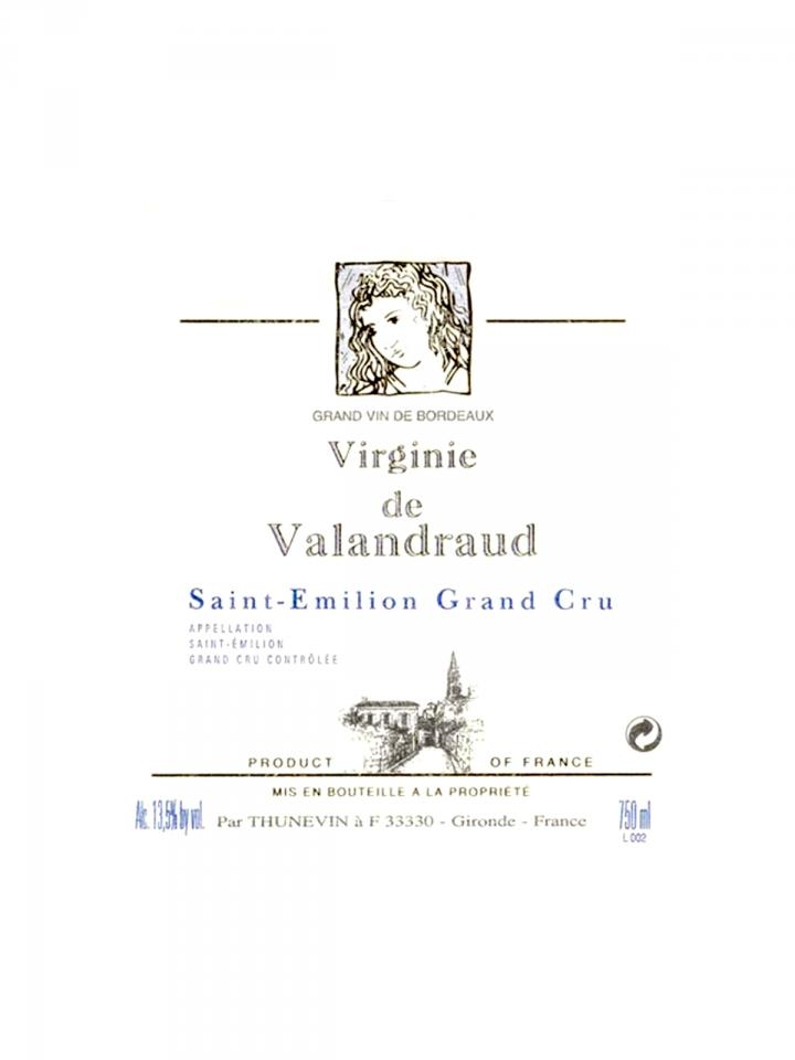 Virginie de Valandraud 2017 Original wooden case of 6 bottles (6x75cl)