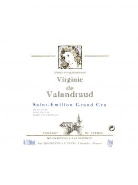 Virginie de Valandraud 2016 Original wooden case of 6 bottles (6x75cl)
