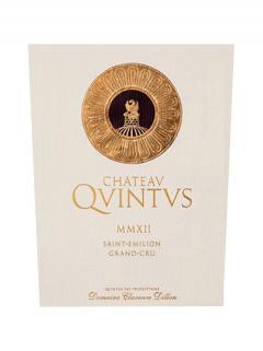 Chateau Quintus 2012 Original wooden case of 6 bottles (6x75cl)