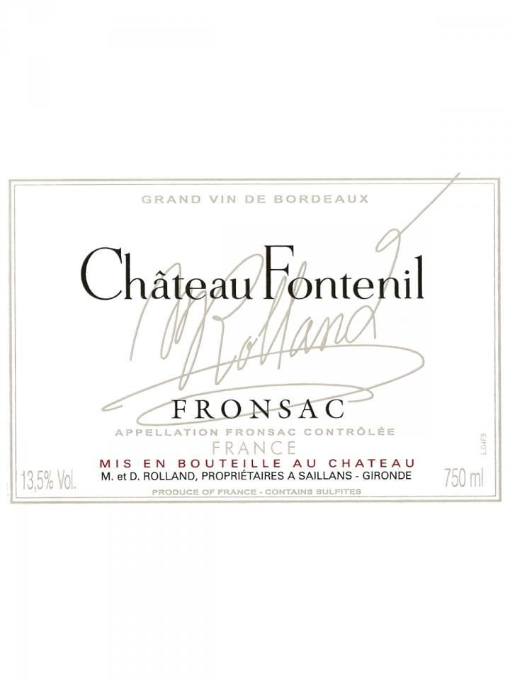 Château Fontenil 2013 Original wooden case of 6 bottles (6x75cl)