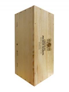 Château Pichon-Longueville Baron 2015 Original wooden case of one double magnum (1x300cl)