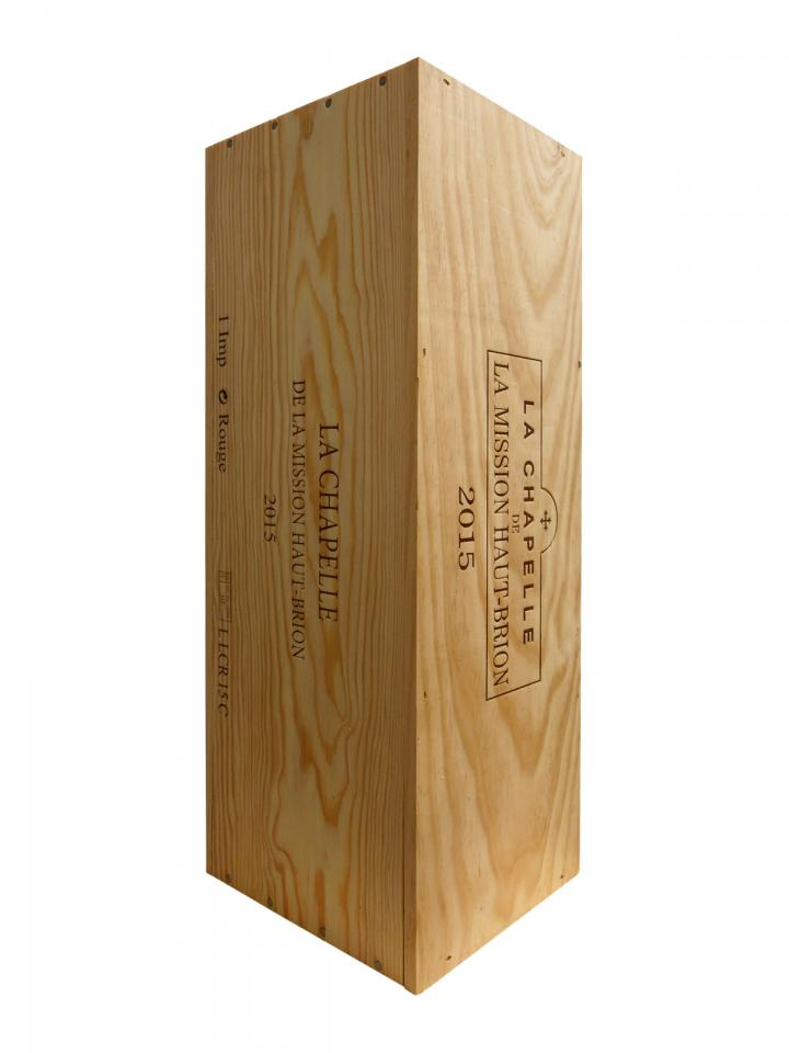 La Chapelle de la Mission Haut-Brion 2015 Original wooden case of one impériale (1x600cl)
