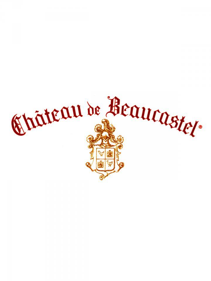 Chateauneuf-du-Pape Château de Beaucastel Hommage à Jacques Perrin 2014 Original wooden case of 3 bottles (3x75cl)