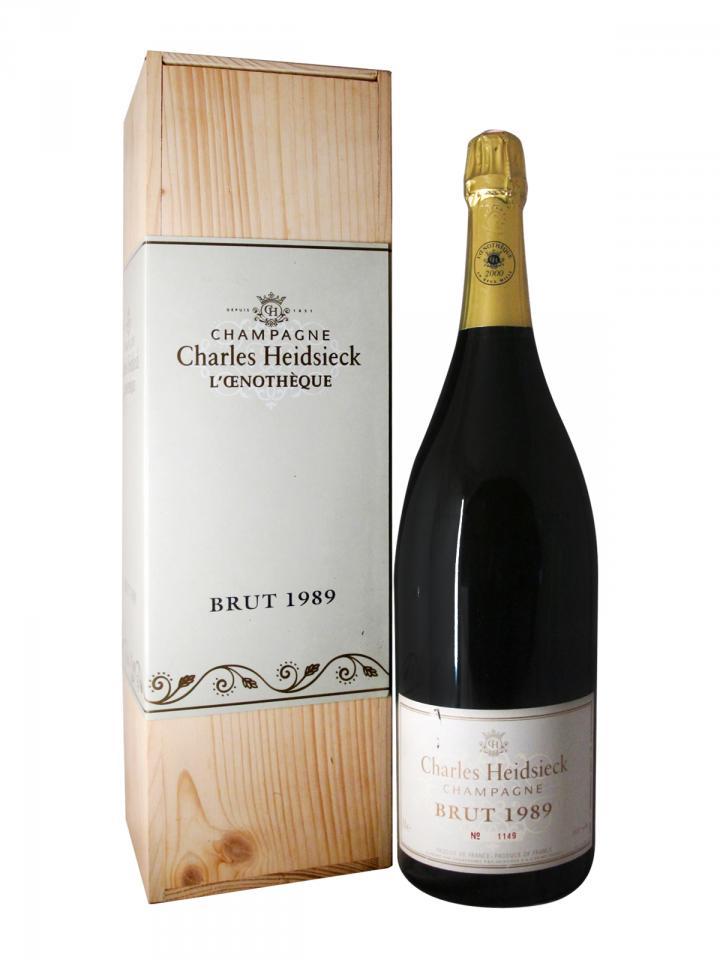Champagne Charles Heidsieck L'oenothèque Brut 1989 Original wooden case of one jéroboam (1x300cl)