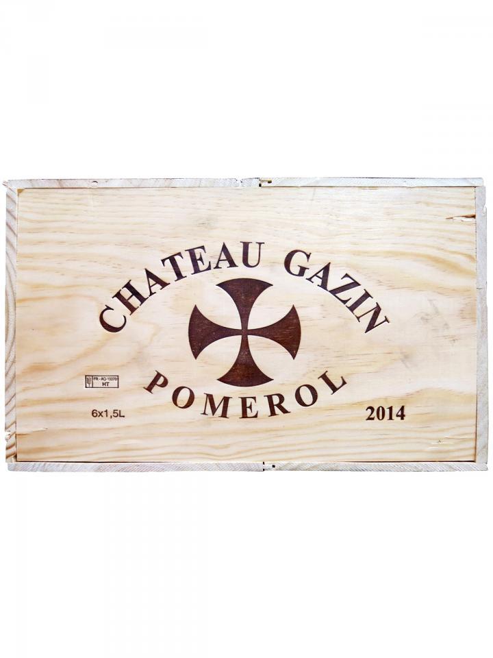 Château Gazin 2014 Original wooden case of 6 magnums (6x150cl)