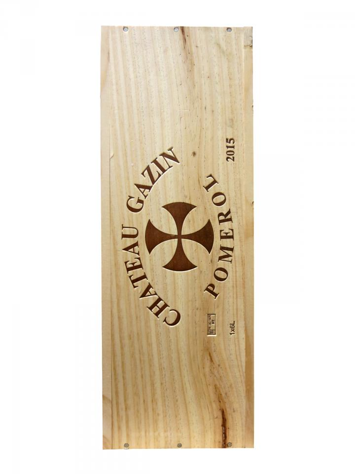 Château Gazin 2015 Original wooden case of one impériale (1x600cl)