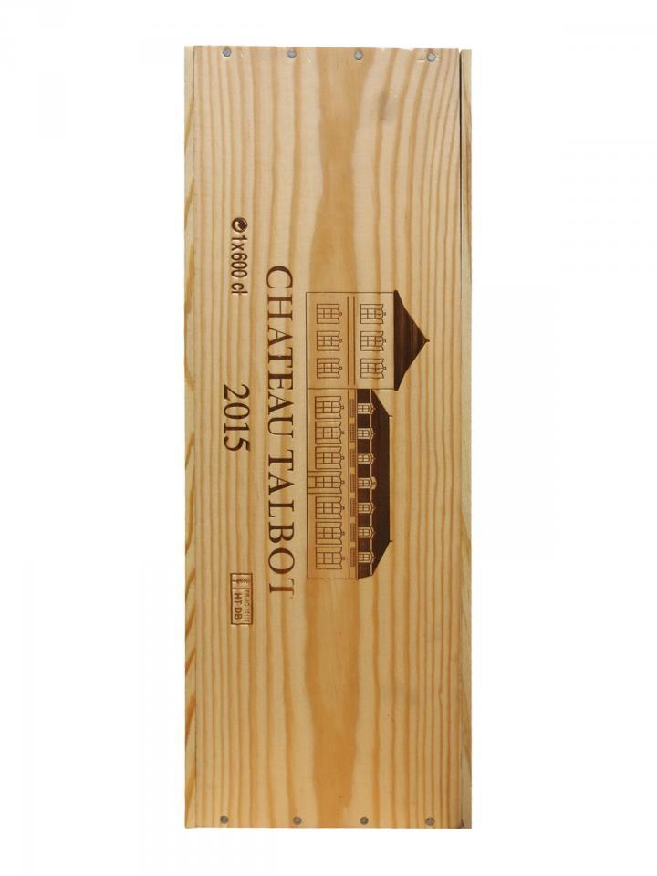 Château Talbot 2015 Original wooden case of one impériale (1x600cl)
