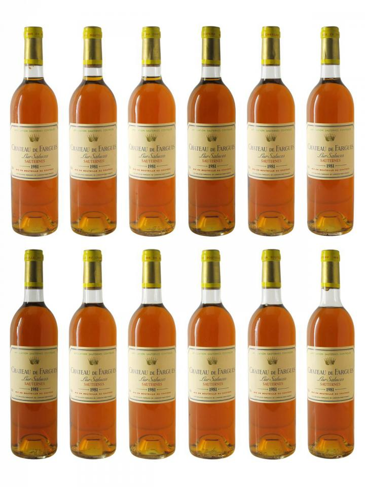 Château de Fargues 1981 Original wooden case of 12 bottles (12x75cl)