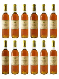 Château de Fargues 1981 Original wooden case of 12 bottles (12x75cl)