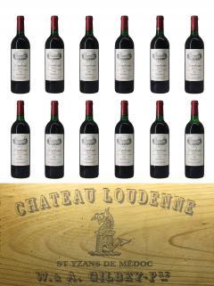 Château Loudenne 1990 Original wooden case of 12 bottles (12x75cl)