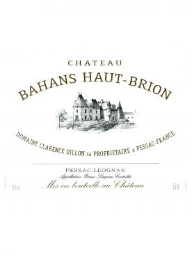 Château Bahans Haut-Brion 1999 Bottle (75cl)