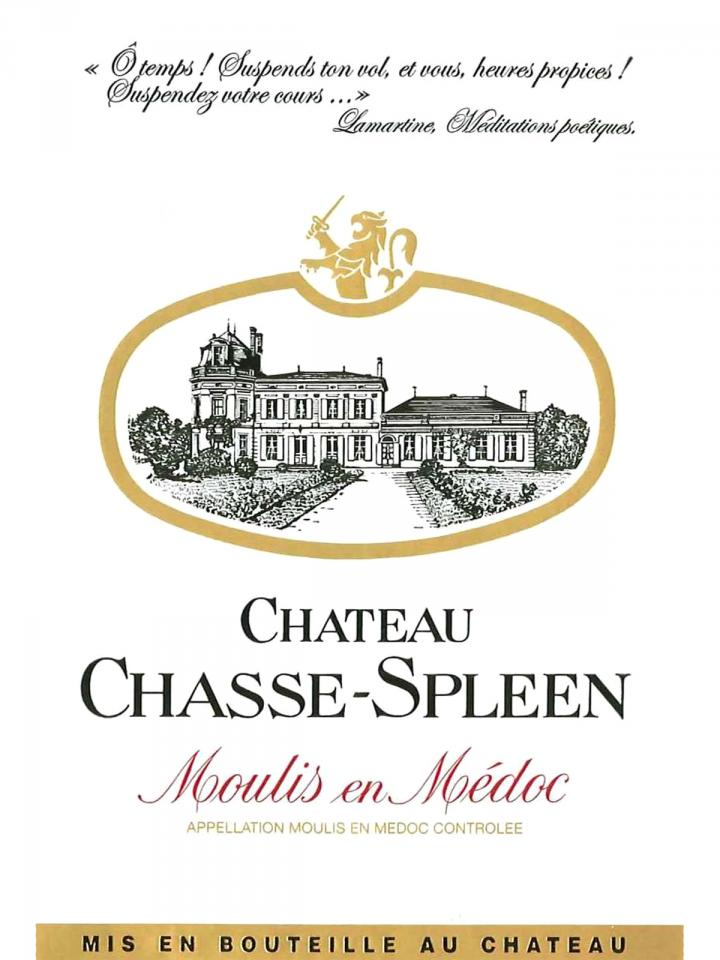 Château Chasse-Spleen 2012 Original wooden case of 6 bottles (6x75cl)