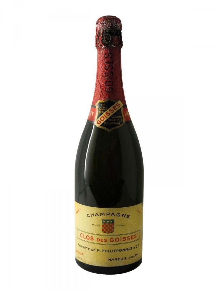 Champagne Philipponnat Clos des Goisses Brut 1947 Bottle (75cl)