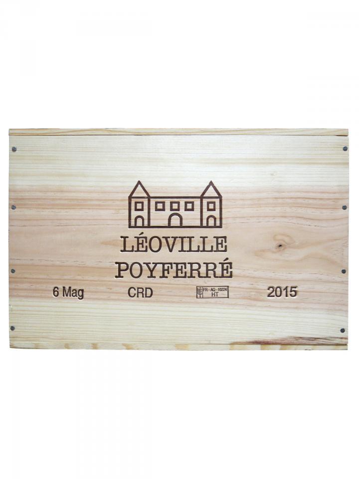 Château Léoville Poyferré 2015 Original wooden case of 6 magnums (6x150cl)